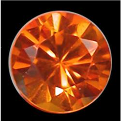 3mm RARE Screaming Yellow Orange Round Natural Sapphire RETAIL $300 (GEM-4617R)