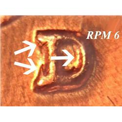 1960D/D Repunched Mintmark Lincoln Cent BU RPM #6 Rare (COI-3653)