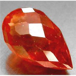 2.51ct RARE Briolette Cut Orange Padparascha Sapphire VS RETAIL $2650 (GEM-7149)