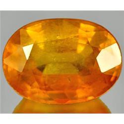 1.56ct RARE Magically Natural Orange Yellow Sapphire Gem VS RETAIL $1350 (GEM-7027)