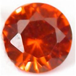 2.8mm Round Top Orange Natural Sapphire AAA FLAWLESS RETAIL $250 (GEM-4524R)