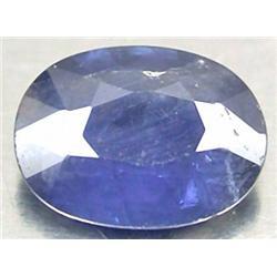 0.77ct.  Blue Natural Sapphire Oval Facet RETAIL $450 (GEM-3854)