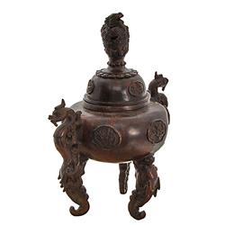 Tibet Bronze Lotus Censer  (ANT-823)