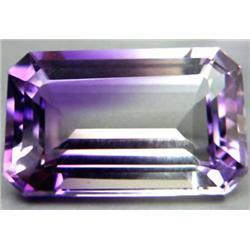 10.20ct. Top Emerald Cut Purple White Ametrine RETAIL $1100 (GEM-3635)
