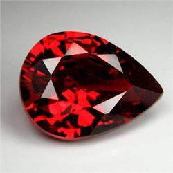 .9ct. Blazingly Gorgeous Red Pear Garnet Gem 8x5mm RETAIL $425 (GMR-0172)