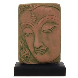 Excellent Hand Cast Sandstone Buddha Face  (CLB-503)