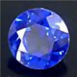 2.5mm VERY RARE Charming Gem Violet Blue Tanzanite Round VVS RETAIL $250 (GEM-4526R)