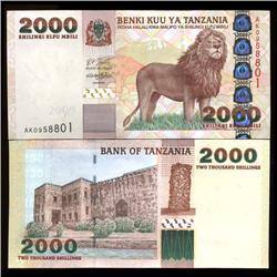2000 Tanzania 2000 Shilingi Crisp Unc Note (COI-3819)