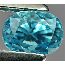 1.14ct RARE Exquisite Clean Natural Blue Zircon Cambodia FLAWLESS RETAIL $1450 (GEM-7024)