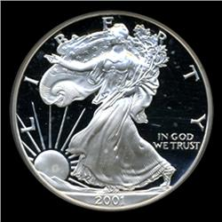 2001W Silver Eagle PROOF Graded GEM PR70 (COI-4073)