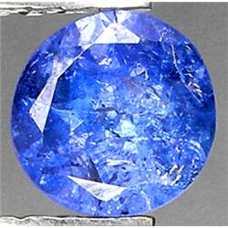 0.63ct VERY RARE Round Cut Top AAA Blue Natural Tanzanite CLEAN RETAIL $650 (GEM-7103)