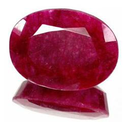 5.66ct. Excellent African Ruby Oval Cut RETAIL $475 (GMR-0109)