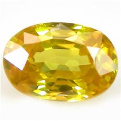 1.1ct RARE Ravishing Yellow Sapphire Ceylon VS RETAIL $1150 (GEM-4552)