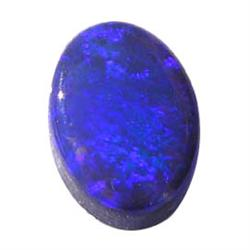 0.3ct. Natural Blue Australian Opal 6 x 4mm RETAIL $300 (GMR-0187)