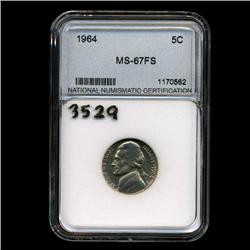 1964 Jefferson 5c Gem BU Full Steps (COI-3529)