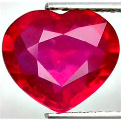2.74ct RARE Lovely Top Red Natural Ruby Madagascar Heart CLEAR RETAIL $1250 (GEM-4987)