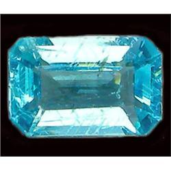 1.53ct Octagon Cut Blue Green Natural Apatite VS RETAIL $1500 (GEM-8335)