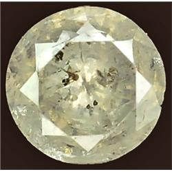.22ct RARE Round Cut Unheated White Diamond RETAIL $1550 (GEM-7593)
