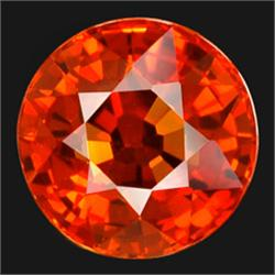 3mm Diamond Cut Top Orange Sapphire AAA FLAWLESS RETAIL $275 (GMR-0206)