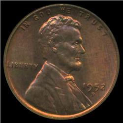 1952D US Lincoln Cent Gem+ MS67 Red   (COI-3914)