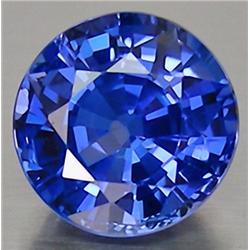 2.5mm RARE Pleasant Round Rich Blue Sapphire AAA VVS RETAIL $275 (GEM-4602R)