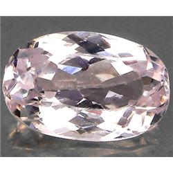 2.68ct RARE Oval Cut Top AAA Mozambique White Pink Kunzite RETAIL $2250 (GEM-7136)