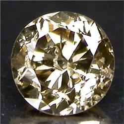 0.15ct. Beautiful Sparkling Natural Color Diamond Round Cut RETAIL $1450 (GMR-0151)