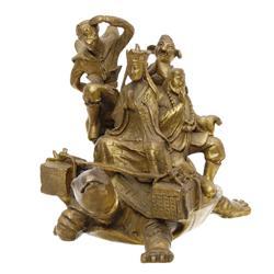 Heavy Brass Vintage Tibet Henjia Statue  (ANT-587)