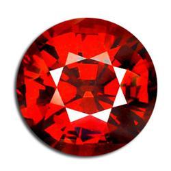 0.35ct. Blazingly Gorgeous Round Red Garnet 4mm RETAIL $275 (GMR-0168)