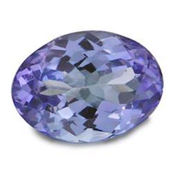 .3ct. Lovely Blue VVS A Block Tanzanite Oval Cut 5x3 mm RETAIL $600 (GMR-0226)