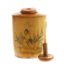 Kamasutra Chinese Bone Snuff Bottle (ANT-375)
