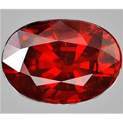 3.74ct RARE Elegant Natural Orange Red Spessartine Garnet VS RETAIL $1800 (GEM-7631)