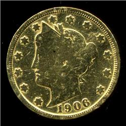 GOLD PLATED LIBERTY NICKEL (COI-3827)