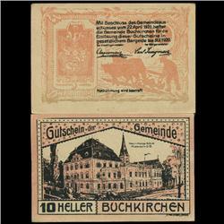 1920 Austria Buchkirchen 10 Heller GEM Rare Note (COI-3506)