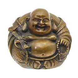 Vintage Chinese Bronze Laughing Buddha (ANT-692)