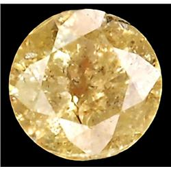0.18ct RARE Round Cut Unheated Yellow Diamond RETAIL $900 (GEM-7605)