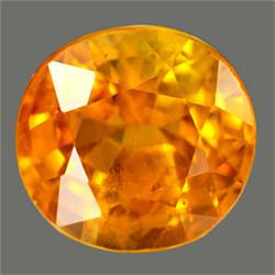2.4mm RARE Clean Orange Yellow Songea Sapphire FLAWLESS RETAIL $300 (GMR-0214)