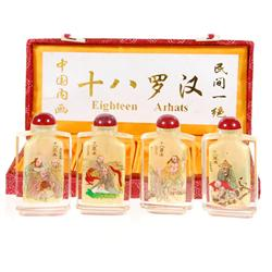 Chinese Beveled Glass Snuff Bottle Set (CLB-160)