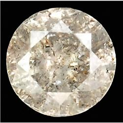0.24ct RARE Round Cut Unheated White Diamond RETAIL $1550 (GEM-7590)