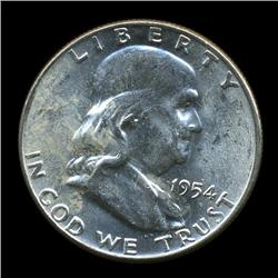 1954D FBL Uncirculated Franklin Half Coin (COI-930)
