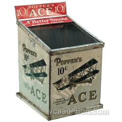 Poppers Ace 10 Cent Cigar, Store Countertop Tin Display