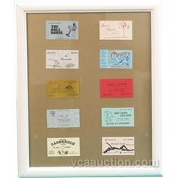"""10 Nevada Brothel Business Cards In Frame - 22"""" x 27"""""""