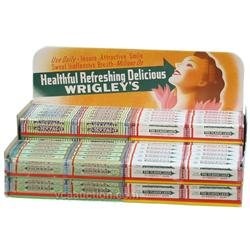 Wrigley's Chewing Gum Countertop Cardboard Display C. 1