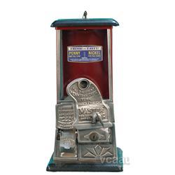 Coin-Op Master Vending Machine - Maroon & Black w/ Keys