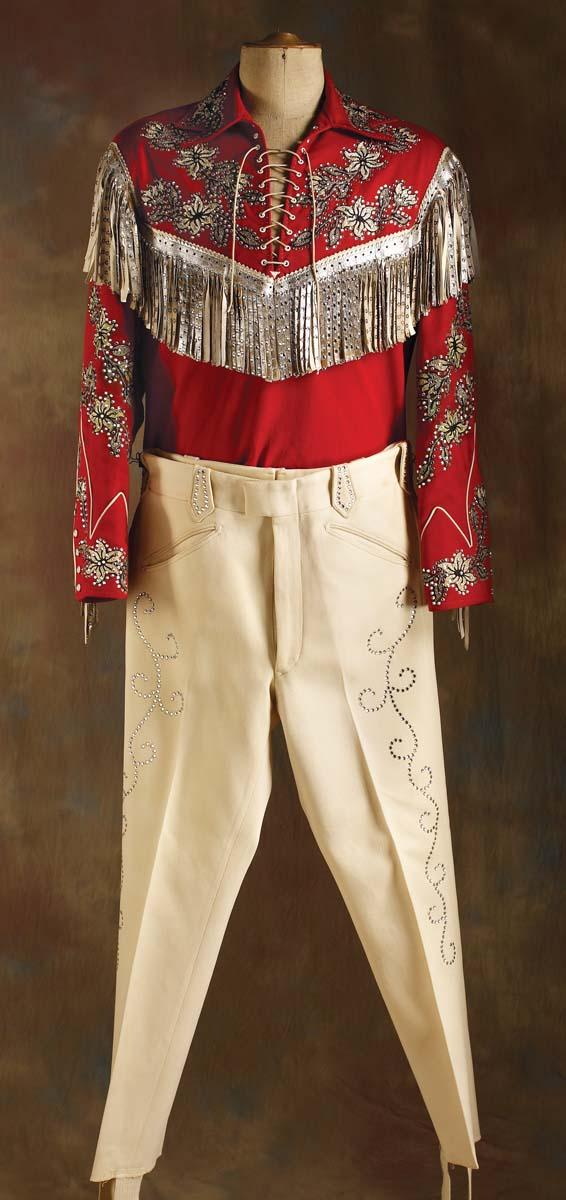 Image 1   Roy Rogers  Nudie s Red Shirt   Pants ... f9f3fc8a3