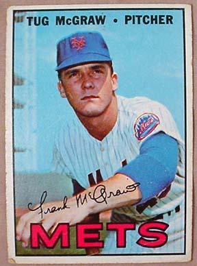 1967 Topps Tug Mcgraw No 348 Baseball Card