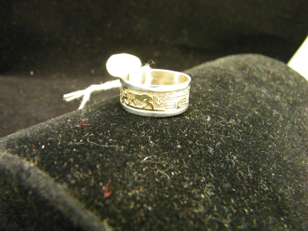 Sterling and 12 KGF Story Teller Ring-Signed TSK -