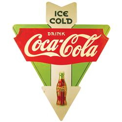 Coca Cola Arrow Advertising Sign, masonite