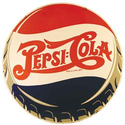 Pepsi Cola Two Sided Porcelain Advertising Sign