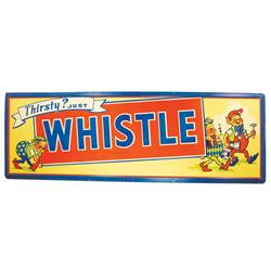 Whistle, Self Framed, Embossed Tin Advertising Sign